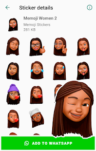 Memoji Black People Stickers for Android WhatsApp