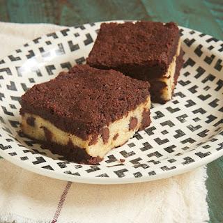 Chocolate Chip Cookie Stuffed Brownies.