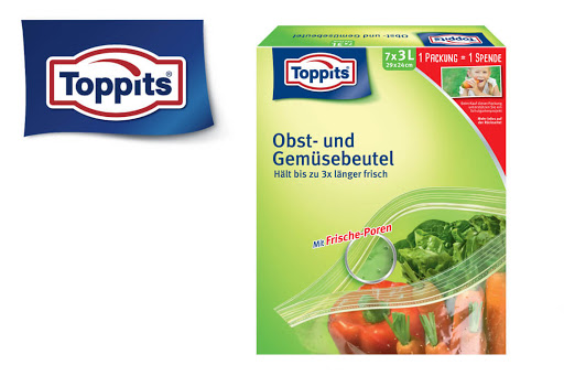 Bild für Cashback-Angebot: Toppits Obst- und Gemüsebeutel