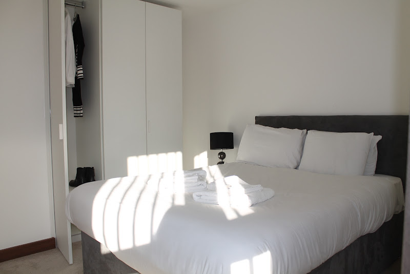 bed at shoreditch square apartment
