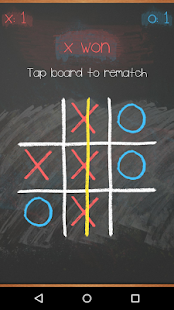 Tic Tac Toe on blackboard- screenshot thumbnail