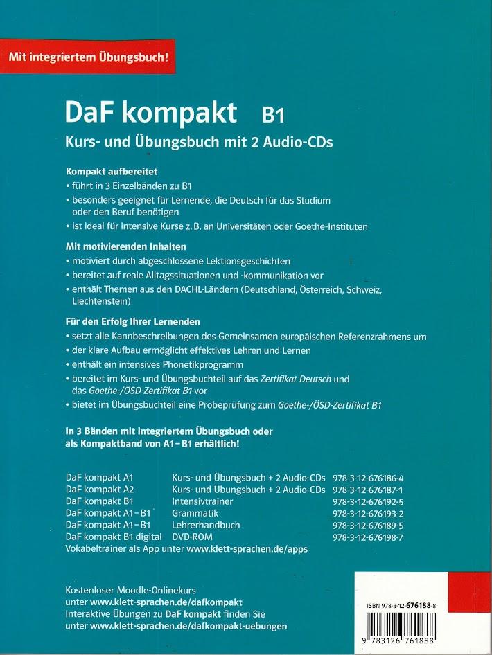 Klett Daf Kompakt B1 Kurs Und Ubungsbuch Mit 2 Audio Cds German For