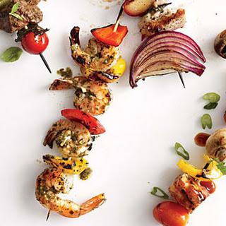Pesto Shrimp Kebabs