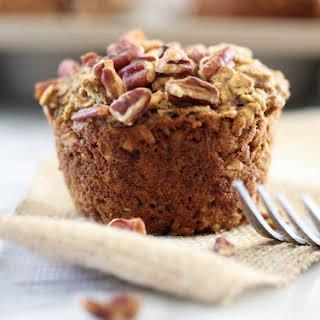 Pumpkin Applesauce Oatmeal Muffins. V. GF..