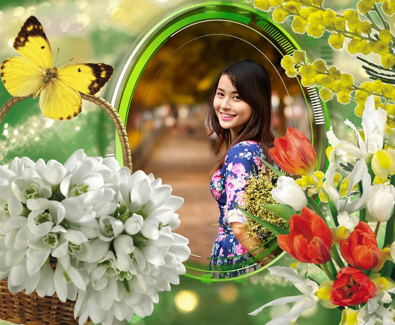 flower frame screenshot