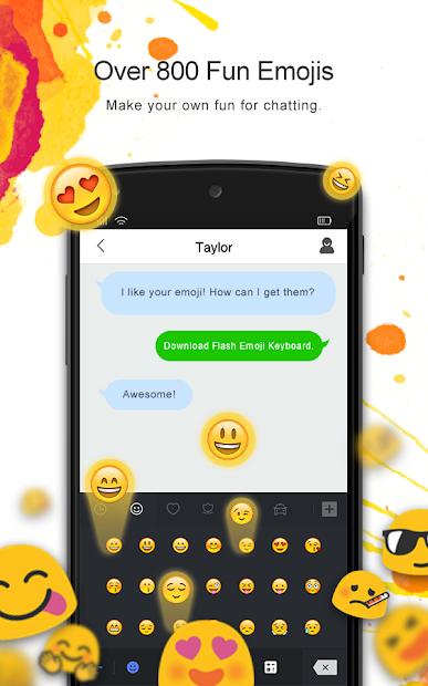 Flash Emoji Keyboard & Themes Android App Screenshot
