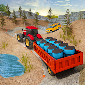 Farming Tractor Cargo Sim- Mountain Jeep Driver
