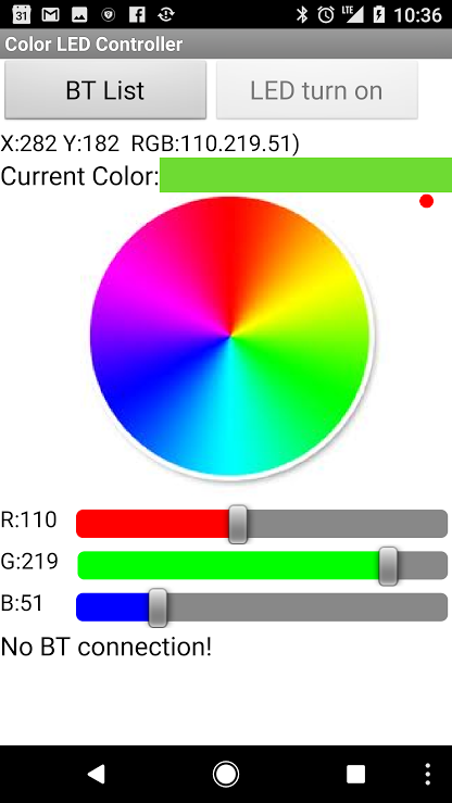 Color LED Controller- screenshot