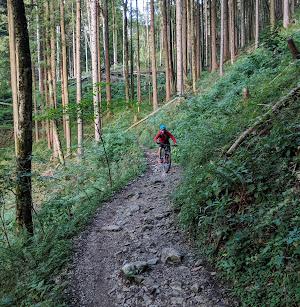 Kampenwand Reitweg trail mtb - Sept 19