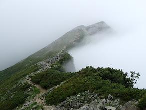 ここから鹿島槍ヶ岳の登りに