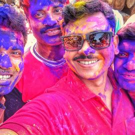 Happy Holi by Swarnendu Ghoshdastidar - Uncategorized All Uncategorized ( colour, holi, happiness, portrait, people, photography )