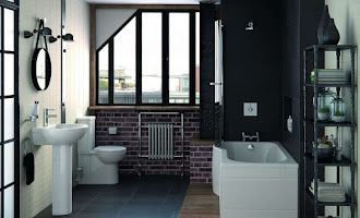 industrial style fully furnished bathroom