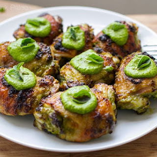 Baked Chicken Thighs with Tasty Green Sauce Recipe
