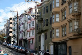 Photo: Lots of Italianate Victorian houses, with the rounded double bays