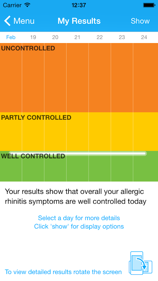 Allergy Diary by MACVIA ARIA- screenshot
