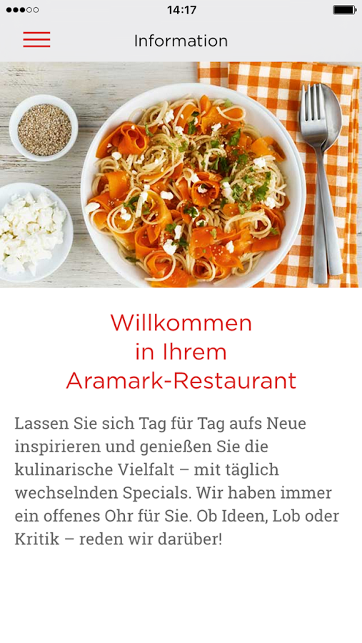 Aramark- screenshot