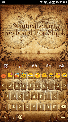Nautical Chart -Emoji Keyboard