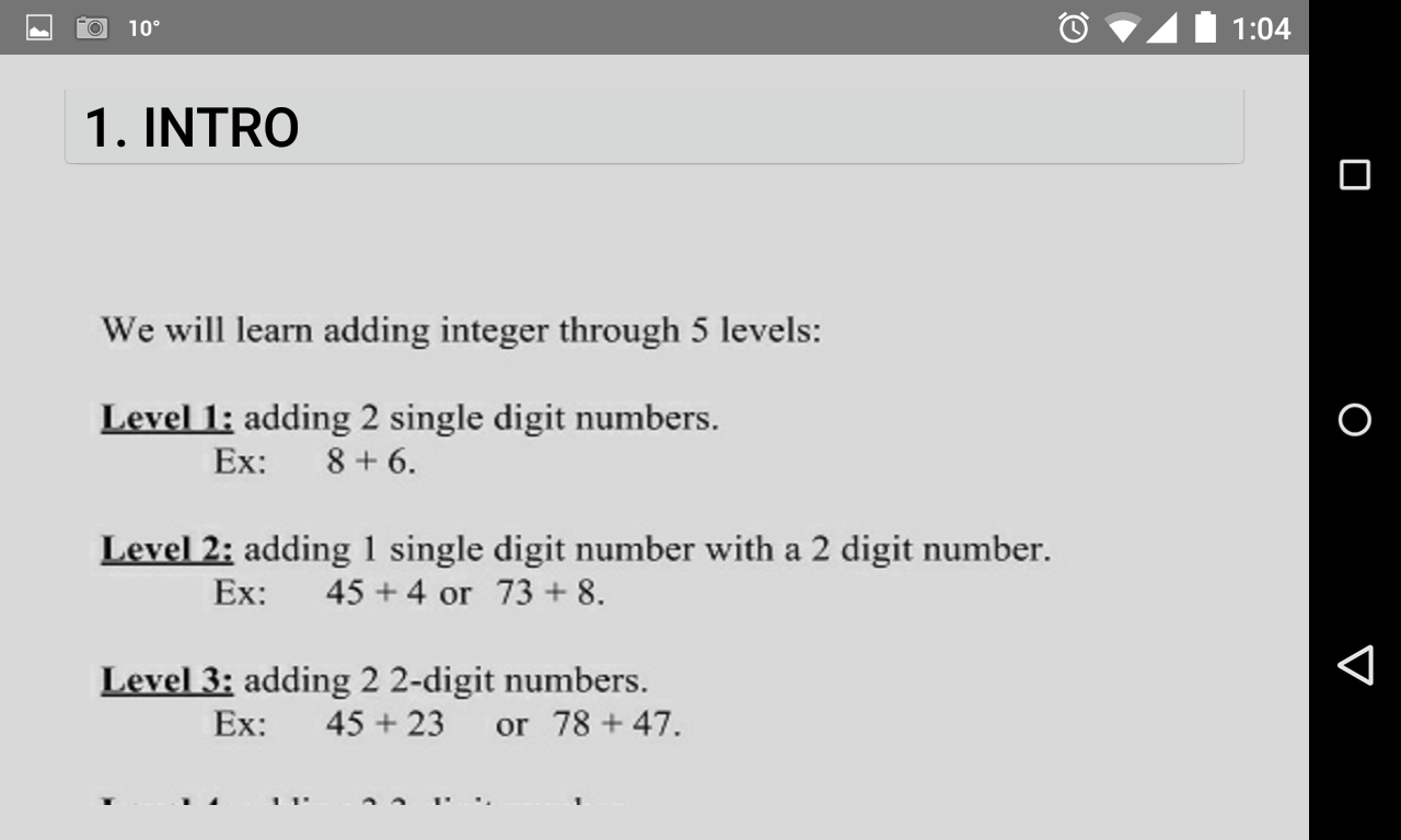 Worksheet Integer Math integer math one android apps on google play screenshot