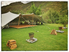 Photo: Freeform tent setup for 100+ guests