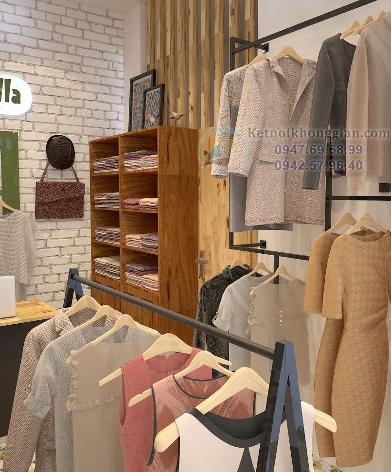 thiết kế shop thời trang mẹ và bé phong cách trẻ
