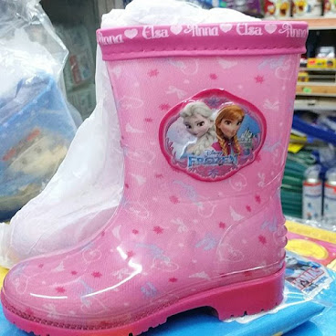 店取9折_韓國 Frozen 兒童水靴 雨鞋