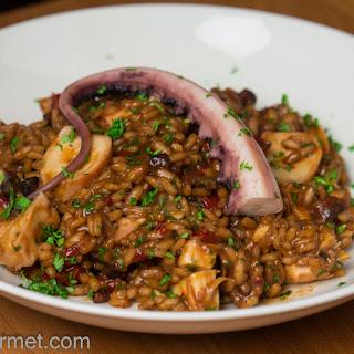 Risotto Al Polpo E Chorizo (Octopus and Chorizo Risotto) Recipe