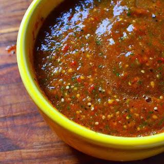 Grilled Tomato-Tomatillo Salsa.