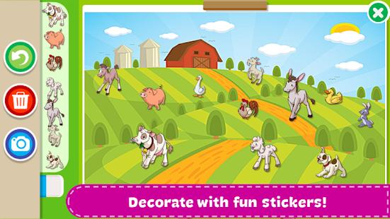 coloring book kids paint screenshot thumbnail - Kid Coloring Apps