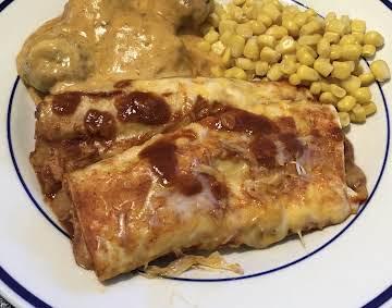Bean and Cheese Enchiladas