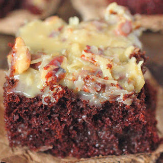 Whiskey German Chocolate Poke Cake