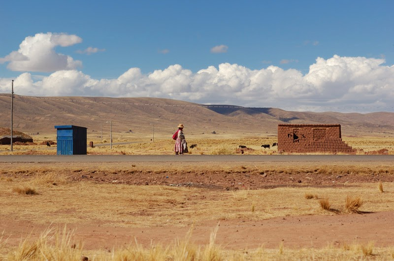Photo: na kraji vesnice Tiwanaku