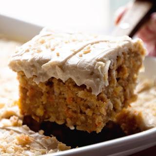 Gooey Cinnamon Carrot Poke Cake