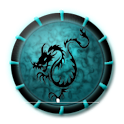 Magical theme: Abstract Dragon with Dark Cool Icon icon