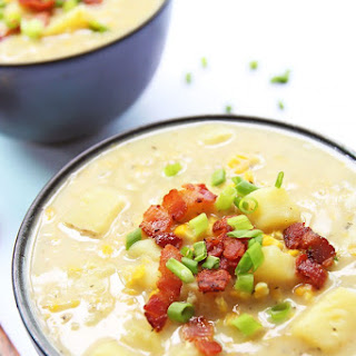 Potato Corn Chowder with Bacon