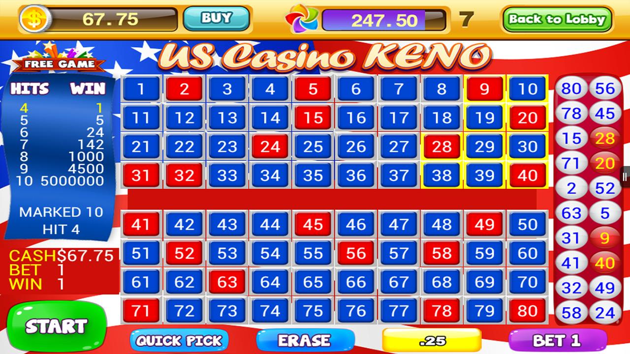Casino gratis keno