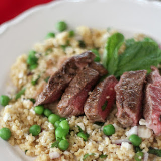 Spring Couscous with Ras El Hanout Lamb Leg Recipe