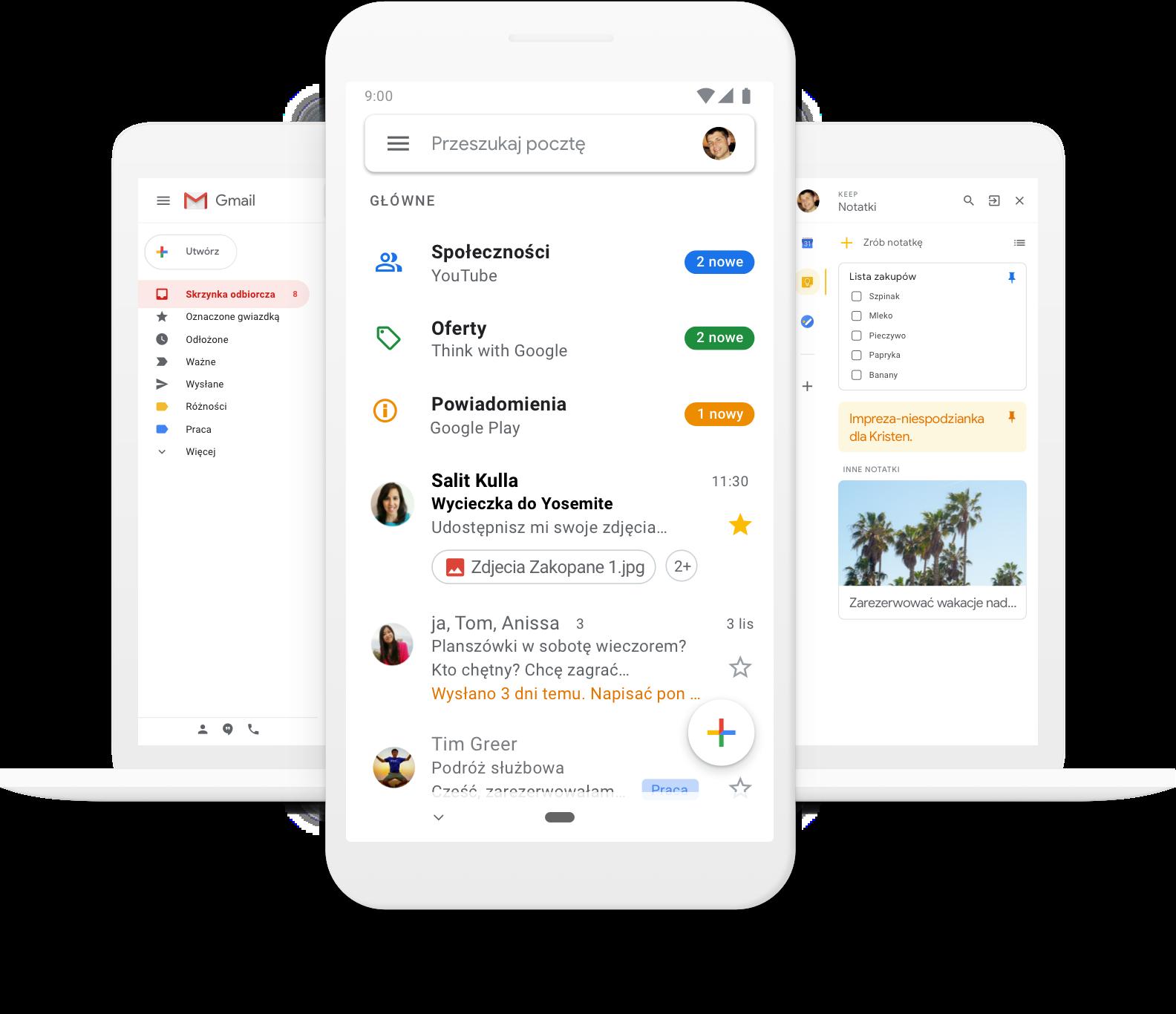 Gmail - bezpłatne miejsce na dane i poczta e-mail od Google