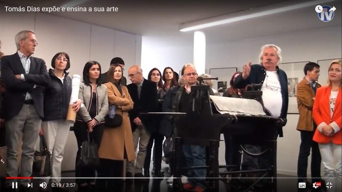 Vídeo - Tomás Dias expõe e ensina a sua arte
