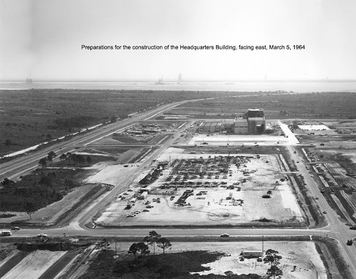 Aerial view of KSC Headquarters Building.