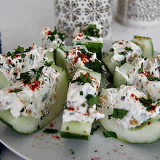 Stuffed Cucumber Bites.