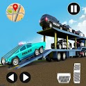 US Police CyberTruck Car Transporter: Cruise Ship icon