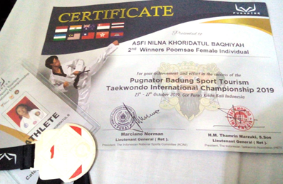 Juara 2 Taekwondo Tingkat Internasional 2019