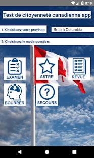 Test de citoyenneté canadienne - náhled