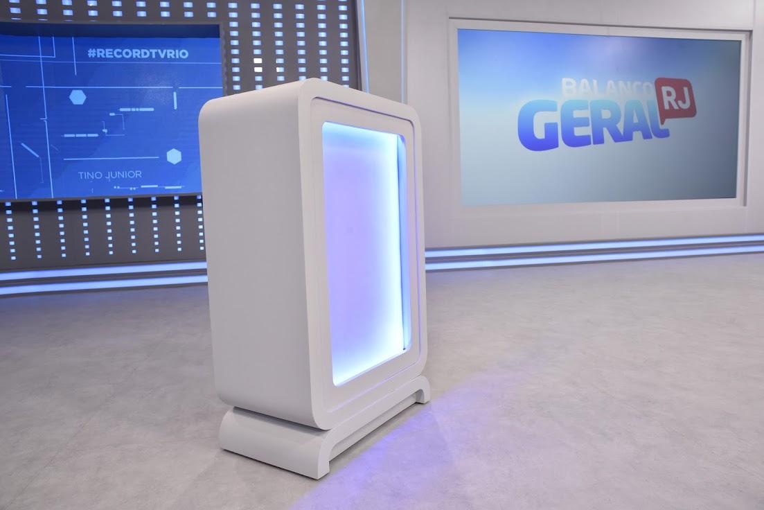 Detalhes do novo cenário do 'Balanço Geral RJ' apresentado por Tino Jr.
