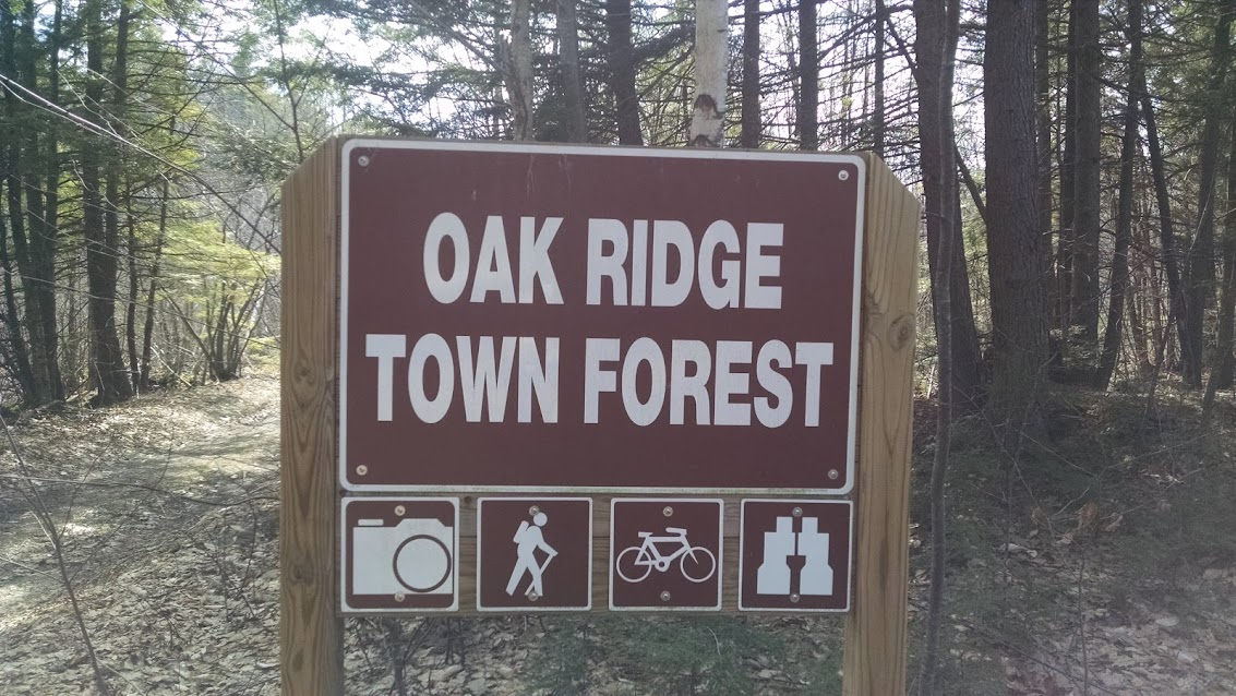 Oak Ridge Town Forest Trail Map Fremont, NH
