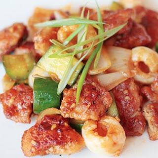 Sweet & Sour Chicken with Lychees