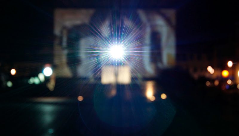 Photo: Nachtprojektion