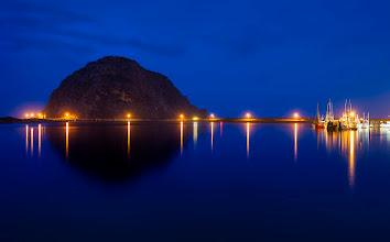 Photo: CALMING From a still and rainy night along the California coast.