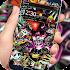 Rock Skull Graffiti Theme & Lock Screen & Call