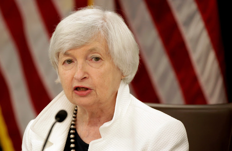 US treasury secretary Janet Yellen. Picture: REUTERS/JOSHUA ROBERTS